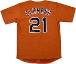 Roger Clemens Autographed Texas Longhorns Custom Jersey Inscribed Nat'l Champs 83, Hook Em