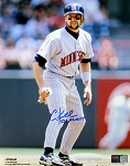Chuck Knoblauch Autographed Minnesota Twins 8x10 Photo Inscribed 91 AL ROY