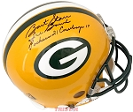 Bart Starr Autographed Green Bay Packers Full Size Helmet Inscribed Ice Bowl Packers 21 Cowboys 17