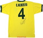 Carlos Alberto Autographed Brazil National Team Shirt