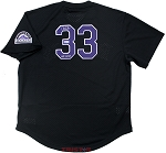 Larry Walker Autographed Colorado Rockies Black Replica Jersey Inscribed HOF 2020