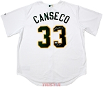Jose Canseco Autographed Oakland A's Jersey Inscribed 86 ROY