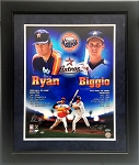 Nolan Ryan & Craig Biggio Autographed Houston Astros 16x20 Collage Photo Framed