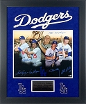 Lasorda, Garvey, Lopes, Russell & Cey Autographed Dodgers 16x20 Photo Inscribed 1981 WS Champs
