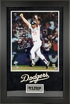 Kirk Gibson Autographed LA Dodgers 1988 WS 16x20 Photo Multiple Inscriptions Framed