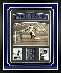 Jackie Robinson Autographed 3x7 Photo Cut Signature in Brooklyn Dodgers Frame