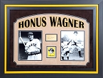 Honus Wagner Autographed Framed Index Card PSA/DNA Grade 8