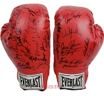 Boxing Hall of Famers Autographed Gloves - 42 Signatures, Ali, Frazier, LaMotta