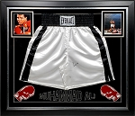 Muhammed Ali Autographed Boxing Trunks Framed