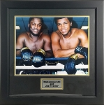 Muhammed Ali & Joe Frazier Autographed Posing 16x20 Photo Framed