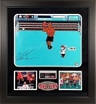 Mike Tyson Autographed Nintendo Punch Out 16x20 Photo Framed