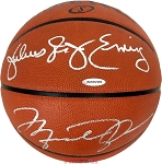 Michael Jordan & Julius Erving Autographed Official Spalding NBA Basketball