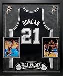 Tim Duncan Autographed San Antonio Spurs Jersey Framed