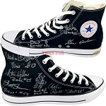Hoosiers Cast Signed Chuck Taylor Converse All Star Sneaker - Gene Hackman & More