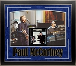 Paul McCartney Autographed Framed 'Ebony and Ivory' 45 Album Cover