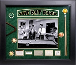 'Rat Pack' Sinatra, Martin, Davis Jr, Lawford & Bishop Autographed Cut Signatures Framed