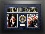 Ronald Reagan Autographed Framed Cut Signature