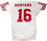 Joe Montana Autographed San Francisco 49ers Game Used Jersey