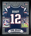 Tom Brady Autographed Framed New England Patriots Jersey Inscribed SB 53 Champs, Still Here
