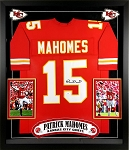 Patrick Mahomes Autographed Kansas City Chiefs Jersey Framed