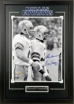 Roger Staubach & Tony Dorsett Autographed Dallas Cowboys 16x20 Photo Framed