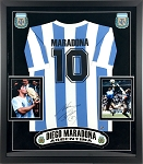 Diego Maradona Autographed Framed Argentina Jersey