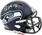 DK Metcalf Autographed Seattle Seahawks Speed Mini Helmet
