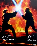 Ewan McGregor & Hayden Christensen Autographed Star Wars 16x20 Photo Inscribed Obi Wan Kenobi, Anakin Skywalker