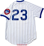 Ryne Sandberg Autographed Chicago Cubs 1987 Jersey Inscribed 84 NL MVP, 9xGG, 10xAS, HOF 05