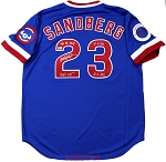Ryne Sandberg Autographed Chicago Cubs 1984 Jersey Inscribed 84 NL MVP, 9xGG, 10xAS, HOF 05
