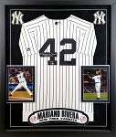 Mariano Rivera Autographed Framed New York Yankees Jersey Inscribed HOF 2019