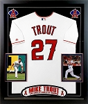 Mike Trout Autographed Framed Los Angeles Angels Jersey