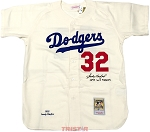 Sandy Koufax Autographed Dodgers Mitchell & Ness Jersey Inscribed 1955 WS Champs