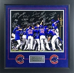 2016 Chicago Cubs Autographed World Series Champions 16x20 Photo with 20 Signatures