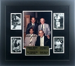 Hall of Fame Catchers Autographed 11x14 Photo Framed - Bench, Berra, Campanella & Lopez