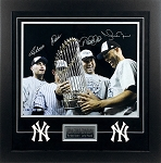 Derek Jeter, Andy Pettitte, Jorge Posada & Mariano Rivera Autographed Yankees 16x20 Photo