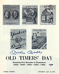 Mickey Mantle Autographed New York Yankees 1972 Old Timers' Day Program