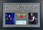 Bon Jovi Autographed Framed Personal Check