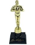 Gene Hackman Autographed Academy Awards Replica Oscar Trophy