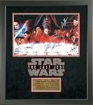 Star Wars Cast Autographed 'The Last Jedi' 12x18 Photo Framed - Hamil, Boyega, Dern, Serkis & More
