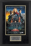 Captain Marvel Cast Autographed 11x17 Movie Poster Framed - Brie Larson & 11 More
