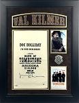 Val Kilmer Autographed Doc Holliday 1885 Bank of Tombstone Prop Money Bag Framed