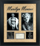 Marilyn Monroe Autographed Postcard Matted and Framed