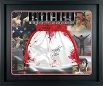 Sylvester Stallone Autographed 'Rocky' Replica Bloody Boxing Trunks Framed