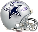 Troy Aikman, Emmitt Smith & Michael Irvin Autographed Dallas Cowboys Authentic Full Size Helmet