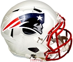 Tom Brady Autographed New England Patriots Chrome Full Size Speed Helmet