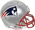 Tom Brady Autographed New England Patriots Authentic Helmet - 5 Inscriptions LE