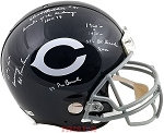 Dick Butkus Autographed Chicago Bears Authentic Helmet with 6 Inscriptions