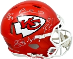 Mahomes, Hill, Kelce & More Autographed Kansas City Chiefs Full Size Helmet