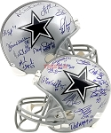 Dallas Cowboys Greats Autographed Full Size Replica Helmet with 22 Signatures